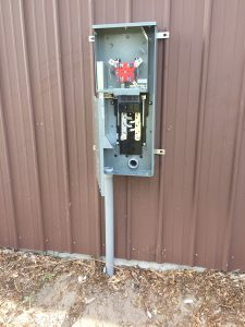 External meter prior to hookup
