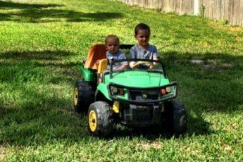 Kids on Deere