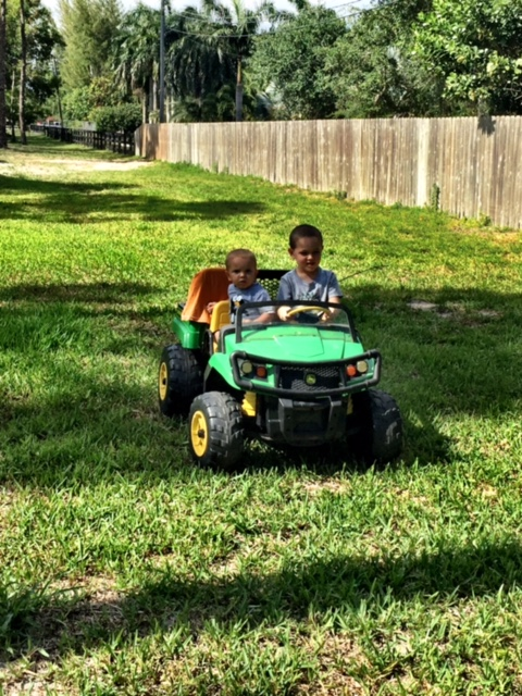 Kids on Deere